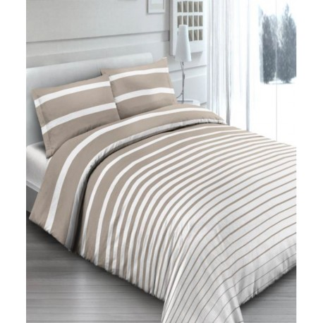 premium posteljnina STRIPES BEIGE