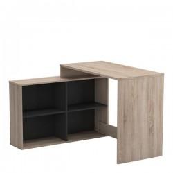 računalniška miza Corner, hrast + črna