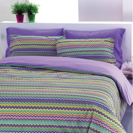 premium posteljnina WAVE VIOLET