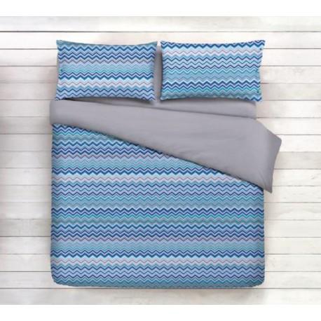 premium posteljnina WAVE BLUE