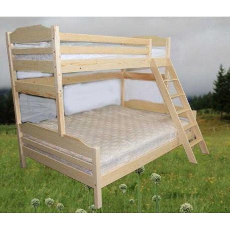 pograd s široko spodnjo posteljo 200 x 140