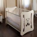 otroška posteljica Tim 120 * 60, bela ali krem