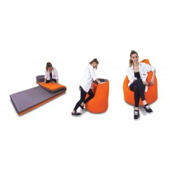 sedež - ležalna blazina PAQ-BED, 5 barv