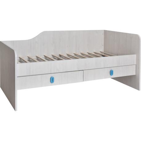postelja Numero 2F desna, s predali