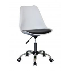 pisarniški stol Olio, bel ali črno-bel