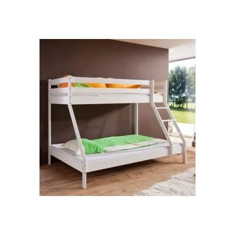 pograd Montana s široko spodnjo posteljo 200 x 140 beli