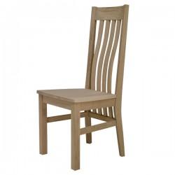 stol Helena hrast, z lesenim sediščem