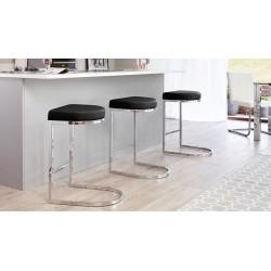 barski stol Josee, črn ali bel