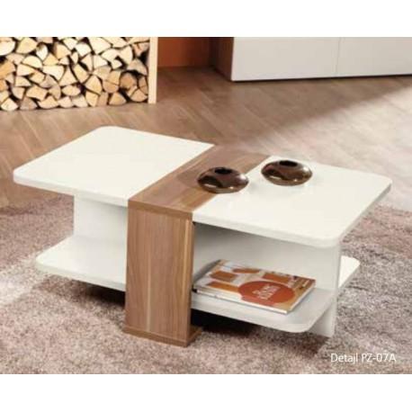 klubska miza Prizma, oreh-bela ali oreh-peščena